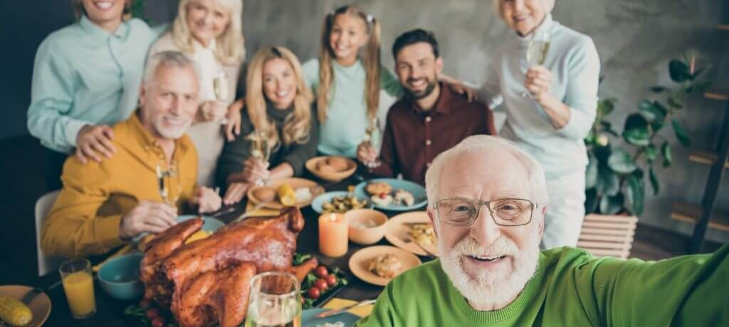 Photo of big family ThanksGiving Selfie